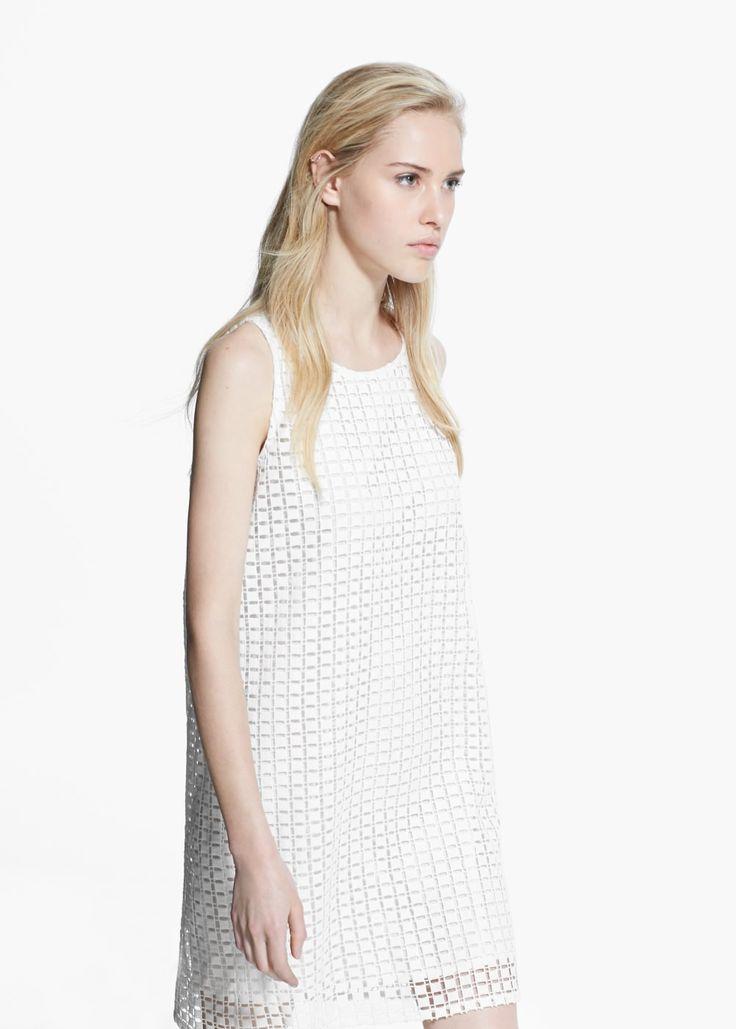 Kleid, geometrisches lochmuster | MANGO