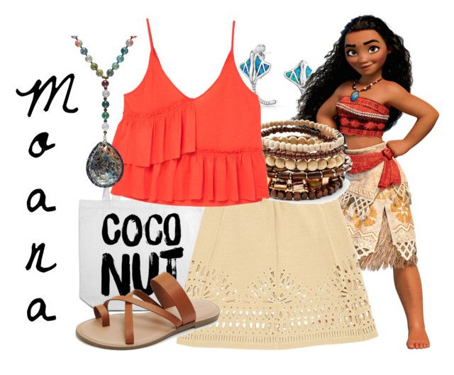"""""""Moana"""" by samosaurus2014 ❤ liked on Polyvore featuring Bling Jewelry, Sea, New York, Mudd, MANGO, Avah and Ella and Forever 21"""