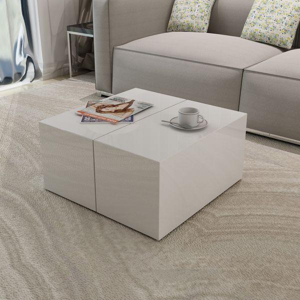 Denna vackra och praktiska förvaringslåda och soffbord i ett kommer bli det perfekta tillskottet till ditt hem. Tack vare dess högkvalitativa MDF med högglansig yta, är den riktigt enkel att rengöra med en fuktig trasa. Du kan även använda den som ett sidobord. Detta soffbord har en gömd och extremt händig mittendel, vilket är designat för att hålla allt från tidningar, fjärrkontroller, stearinljus, filtar, eller vad som helst som behöver förvaras. Det är den perfekta kombinationen av…