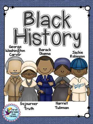 Black History Month from First Grade Fun Times on TeachersNotebook.com -  (50 pages)  - Printable reader and writing activities for Barack Obama, Sojourner Truth, George Washington Carver, Harriet Tubman and Jackie Robinson