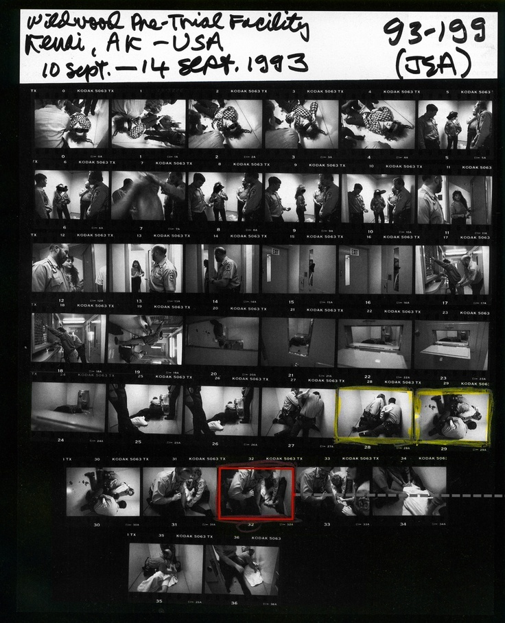 Jane Evelyn Atwood - Contact Sheet, USA, 1993.