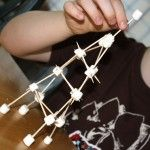 Create the Eiffel Tower with marshmallows and toothpicks! #Madeline #FIAR