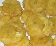 Tostones Recipe - Twice Fried Green Plantain Chips - I bought a plantain squisher and now I know how to use it!