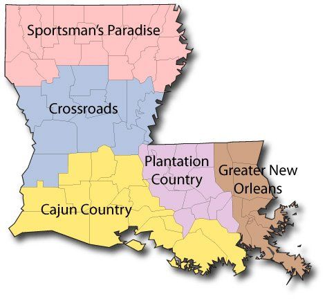 This is a good map showing some of the stereotypical cultural divides around the state. Of course we love each section!