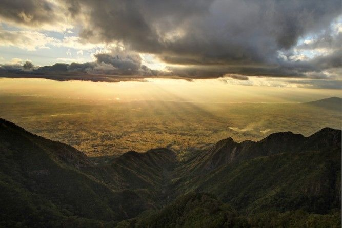 Zomba mountain features to a number of enchanting lookouts, including this one called Chingwe's Hole.
