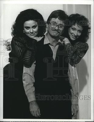 1987 Press Photo Delta Burke, Lewis Grizzard, Dixie Carter-- Does it get any better than this?