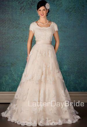 Modest Wedding Dress, Bellissimo | LatterDayBride & Prom