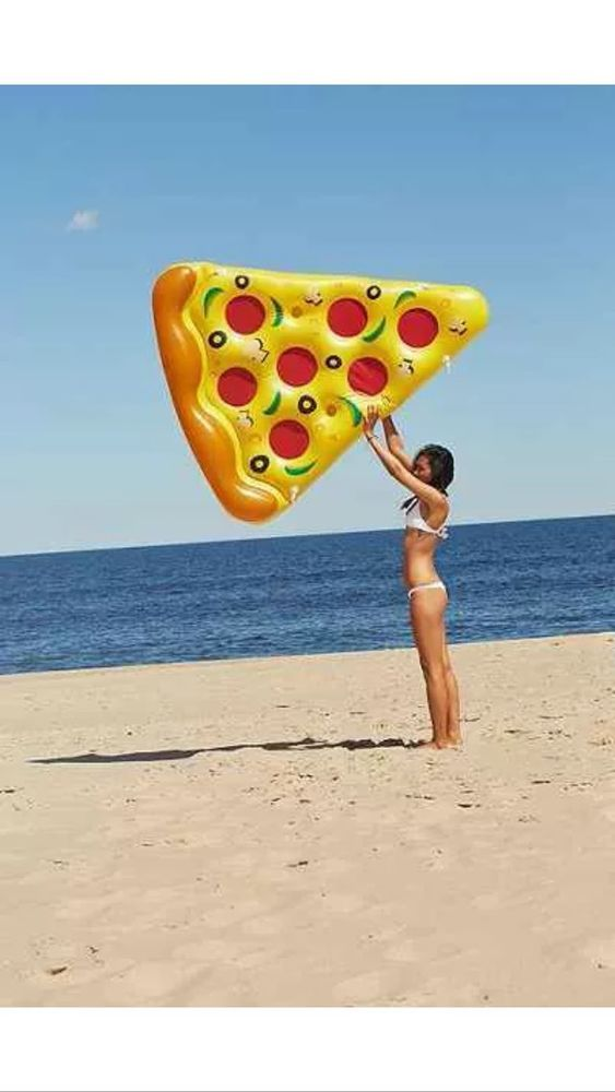 Huge Pizza Slice Pool Float - Sold out everywhere - Yellow Cheese!! :)