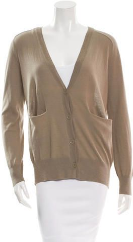 T by Alexander Wang V-Neck Dual Pocket Cardigan