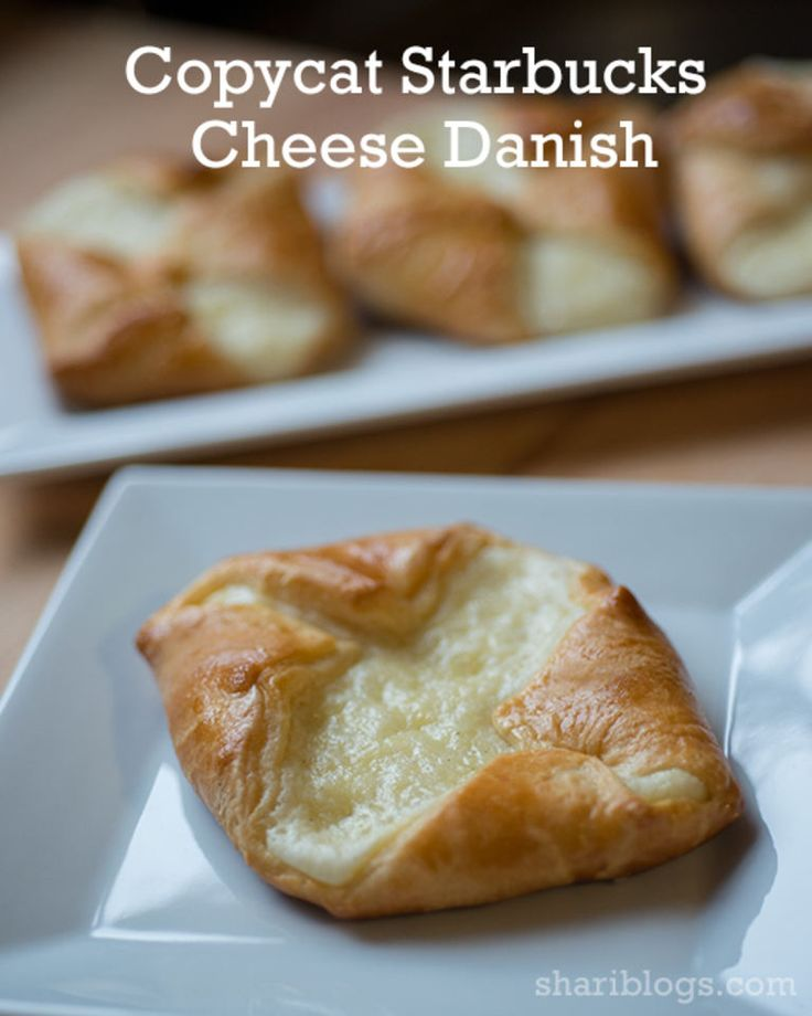 Copycat Starbucks Cheese Danish, bread, pie, dessert recipe all rolled into one!  Delicious!