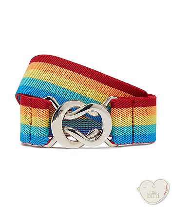 Add an instant pop of colour to your little one's outfit with this stylish rainbow belt.