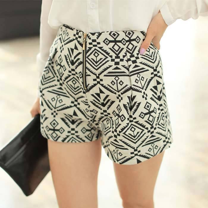 This flaunts a printed pattern that will make heads turn.