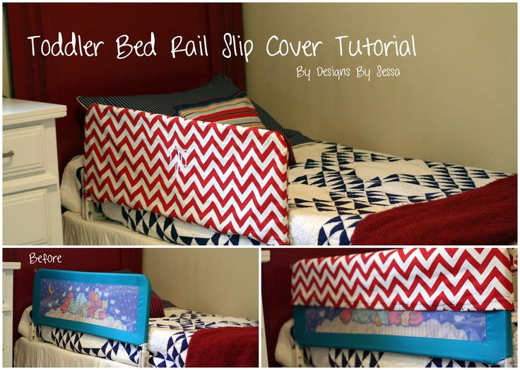 Toddler Bed Rail Slip Cover Tutorial By Designs Sessa I Need This Now