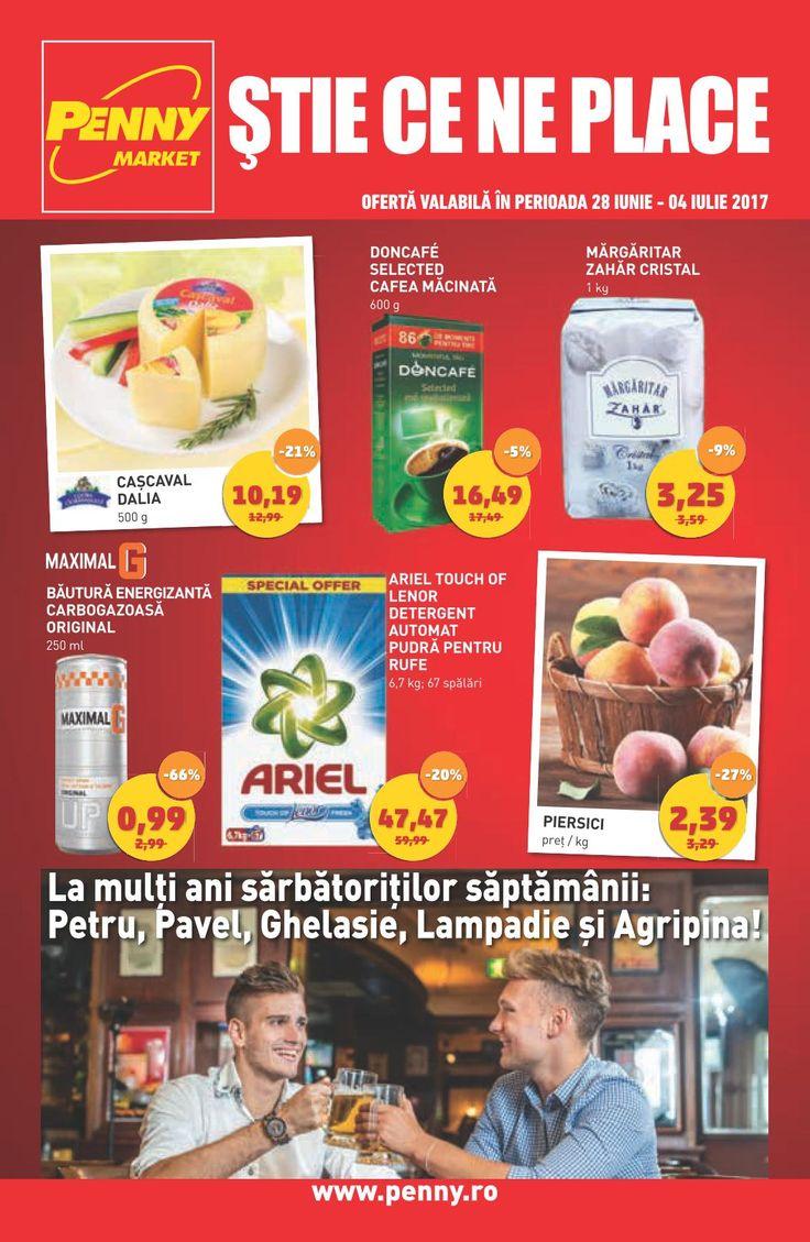 Catalog Penny Market 28 Iunie - 04 Iulie 2017! Oferte si recomandari: piersici 2,39 lei; Ariel Touch Of lenor detergent automat pudra pentru rufe 6,7 kg
