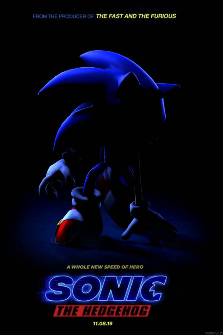 SFM Sonic 2019 Movie Poster by williamwee   Sonic the