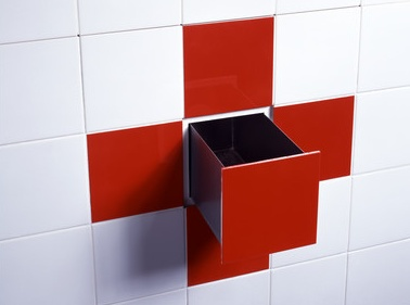 clever storage for the bathroom—or wherever there's a tiled wall