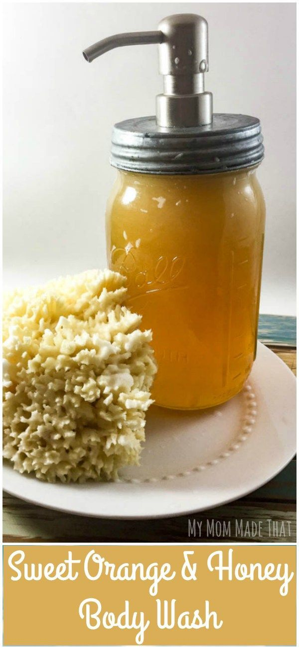 Did you know that Raw Honey is wonderful for your skin? Check out this easy tutorial using raw honey, castille soap and natural oils to create a luscious Sweet Orange and Honey Body Wash (tutorial by My Mom Made That)