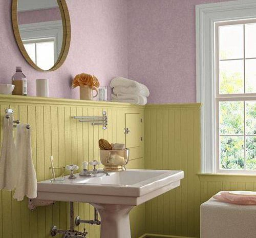 Wainscoting Light Green Bathroom Design The Different