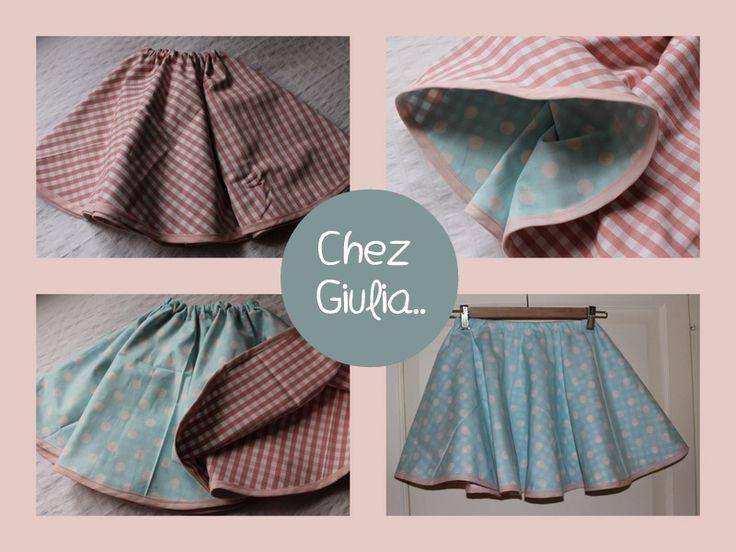 Chez Giulia..: TUTORIAL: Gonna a ruota reversibile - Reversible circle skirt