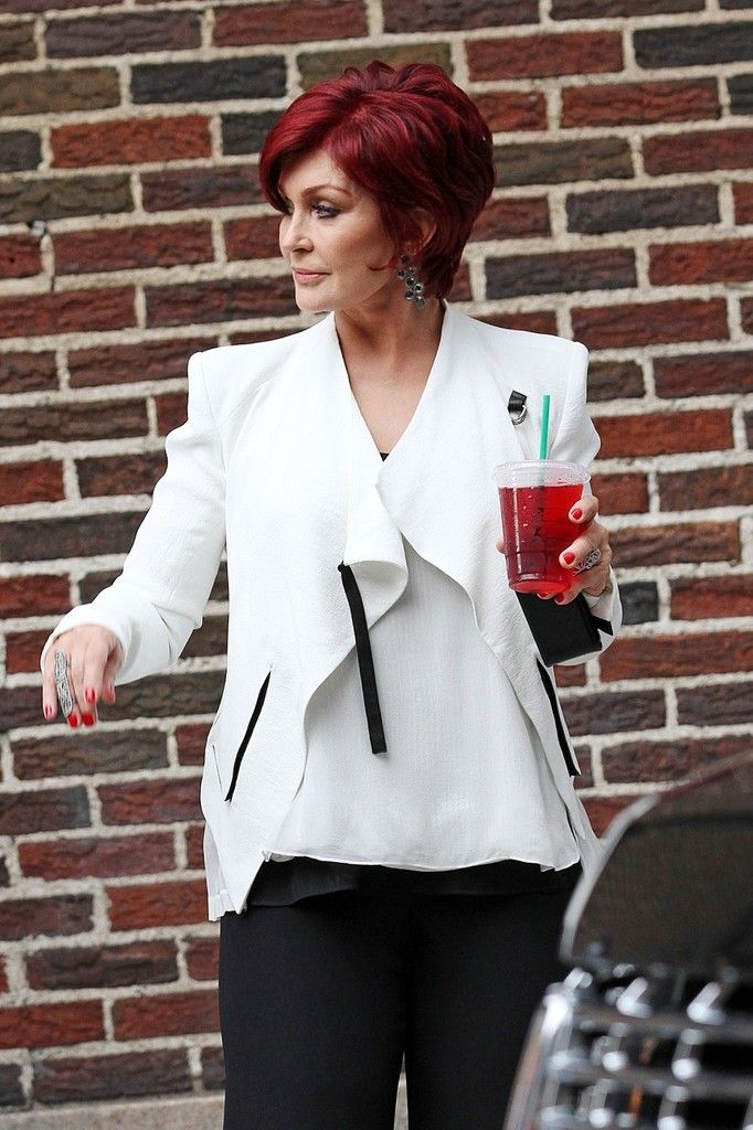 Sharon Osbourne - When I'm totally gray, I will have this haircolor