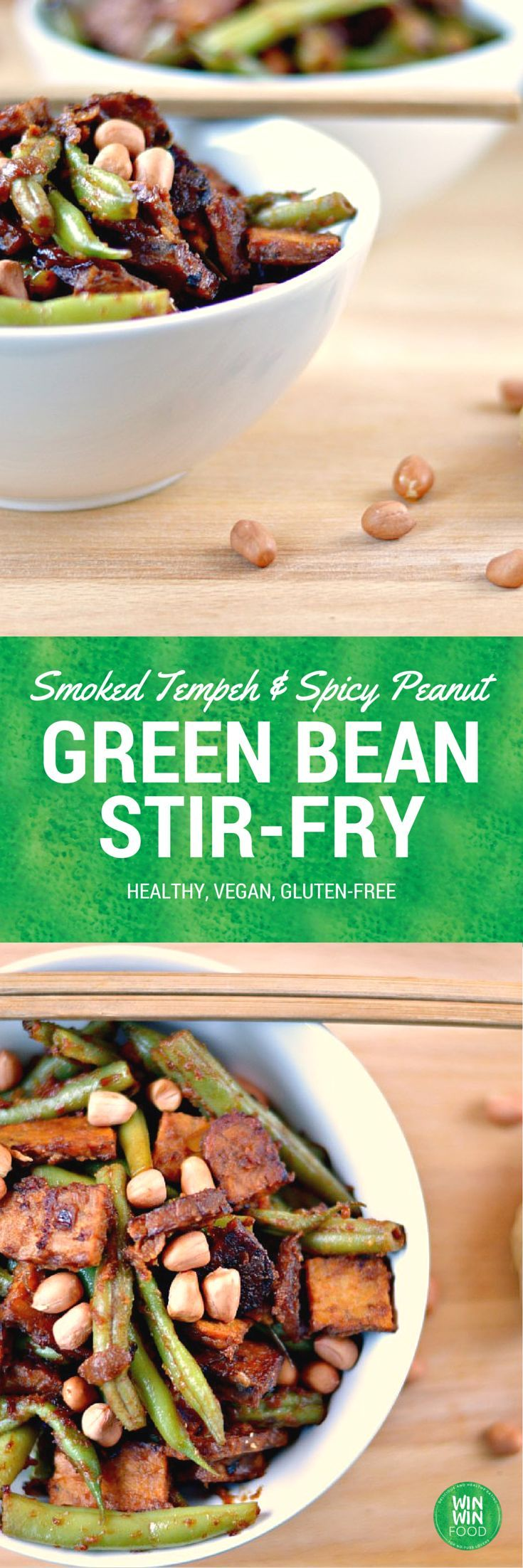 Green Bean Stir Fry | WIN-WINFOOD.com #healthy #vegan #glutenfree