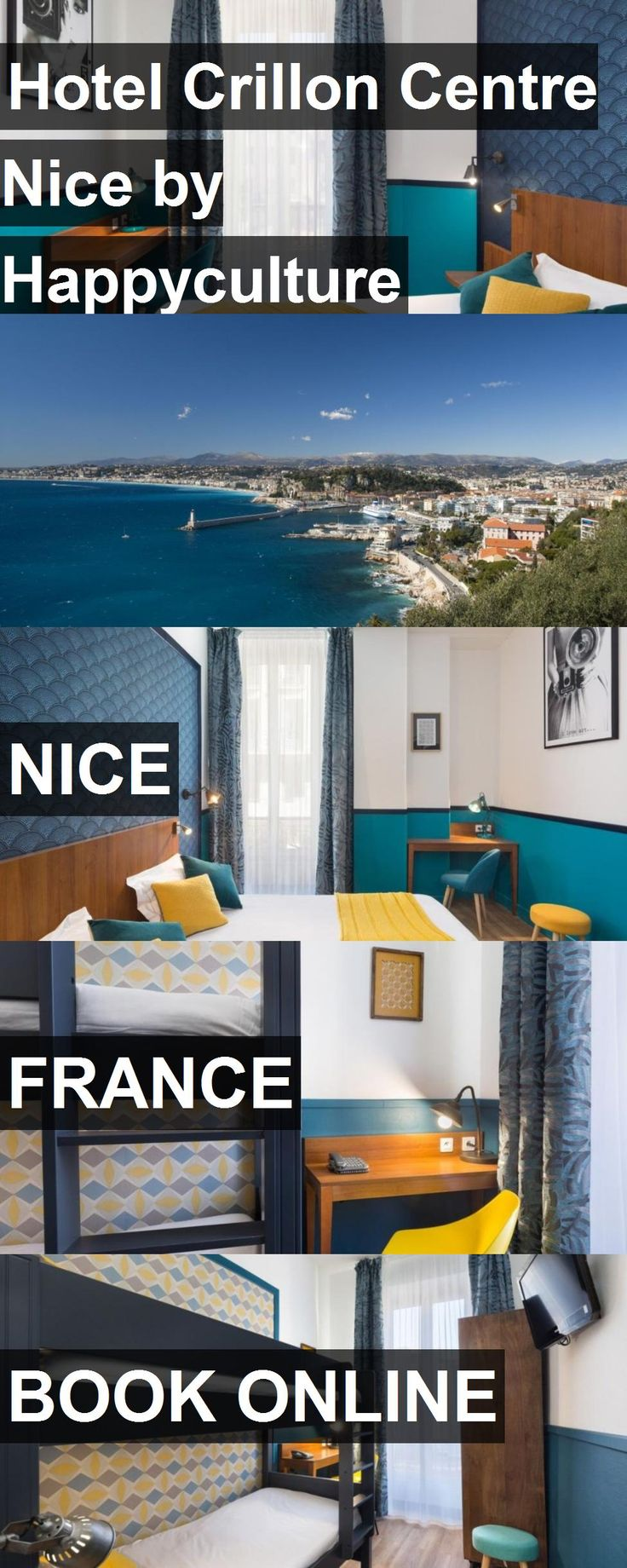 Hotel Hotel Crillon Centre Nice by Happyculture in Nice, France. For more information, photos, reviews and best prices please follow the link. #France #Nice #HotelCrillonCentreNicebyHappyculture #hotel #travel #vacation