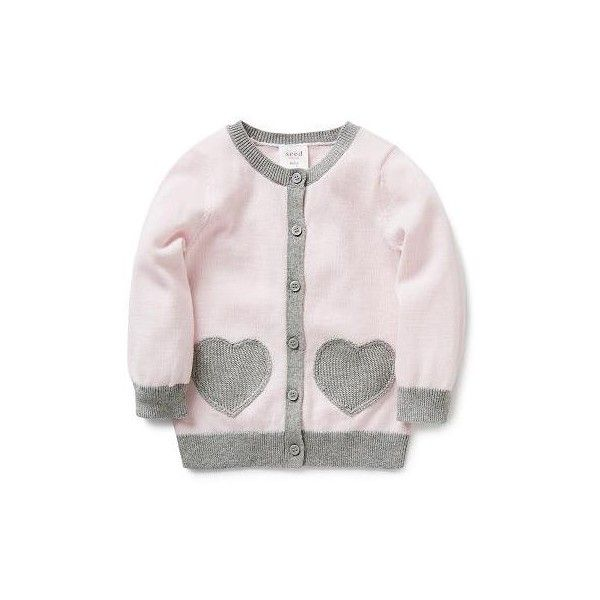 Baby Girls Knitwear & Jumpers | Heart Pocket Cardigan | Seed Heritage (190 BRL) ❤ liked on Polyvore featuring baby and girls