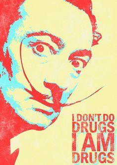 """""""A vida de Dalí era movida por contradições: ele próprio se identificava como anarcomonarquista. Mas o que é isso? É só uma maneira de dizer que ele apoiava o fascismo franquista na Espanha, mas não tinha muita paciência para autoridades locais, como André Breton, líder dos surrealistas que o expulsou do movimento no fim dos anos 30."""""""