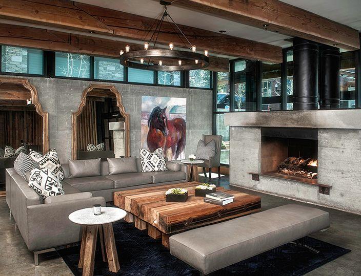 Sky Lodge Lobby Interior Design And Furniture Park City Utah