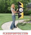 "Pittsburgh Steelers Swooper Flag Kit 42"" x 13"""