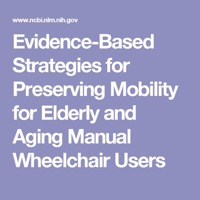 Evidence-Based Strategies for Preserving Mobility for Elderly and Aging Manual Wheelchair Users
