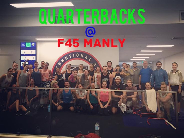 #quarterbacks at #f45manly  #f45manly #f45training #sydney #training #grouptraining #Fitfam #instafitness #beastmode #gym #instafit #fitnessaddiction #active #bestoftheday #instadaily #fitnessfreak #health #healthylife #eatclean #fitspo #abbs #foodgasm #lifestyle #diet #instahealth #wellness #coffee #swole #squats by f45_training_manly