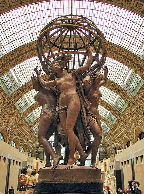 Musée d'Orsay - Jean Baptiste Carpeaux - Les Quatre Parties du monde soutnant la sphére céleste