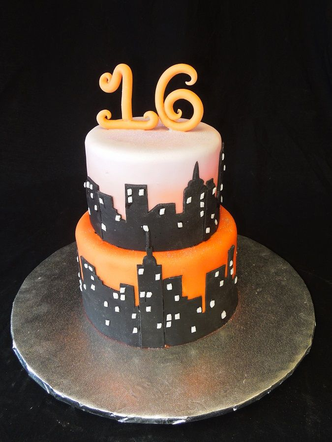 new york city skyline sweet 16 cake ideas for kenna. Black Bedroom Furniture Sets. Home Design Ideas