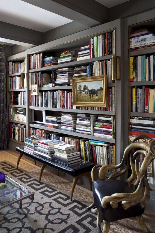 Classic Library Design | #home #books