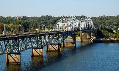O' Neal Bridge spanning the Tennessee River between Florence and Sheffield, Alabama