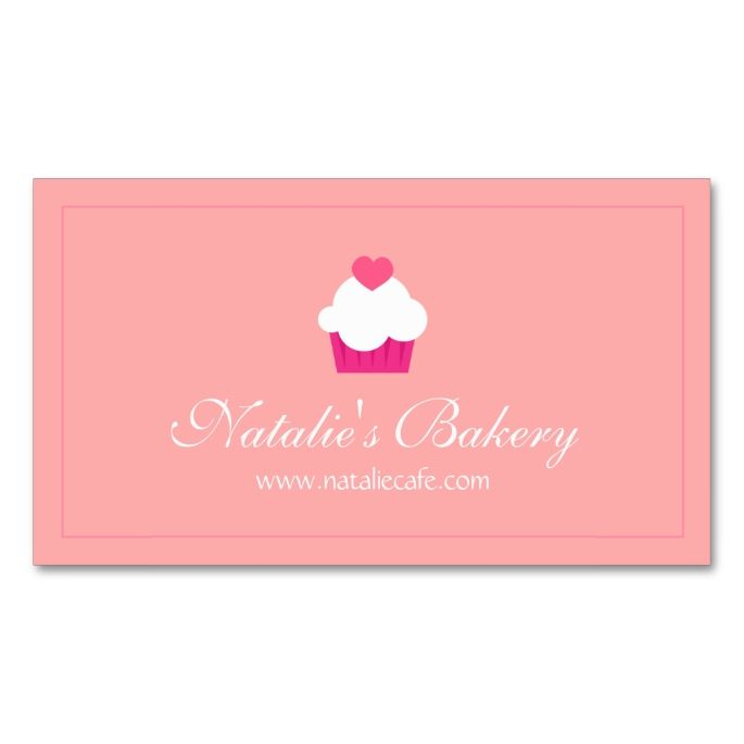 1948 best chef business cards images on pinterest business cards elegant modern sweet cupcake bakery business card reheart Choice Image