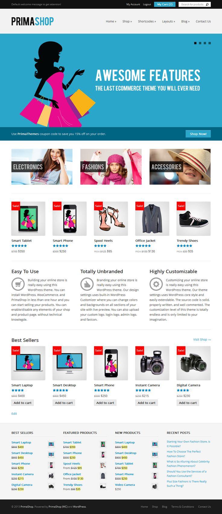 BEST eCommerce WordPress Themes of All Times (12 Themes + Bonus) http://www.wordpressawards.net/best-ecommerce-wordpress-themes/ #ecommerce #wordpress #themes