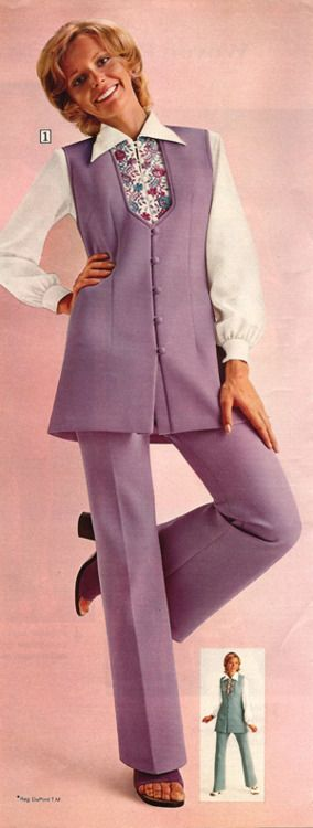 1970s Pant Suit from Sears - Very Carol Brady (I think my mom had this pantsuit, b/c I wore just the top as a mini-skirt)