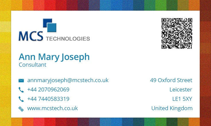 Business card design for ann mcs technologies ltd leicester uk business card design for ann mcs technologies ltd leicester uk abudhabi uae new york usa designs pinterest leicester uk and business cards reheart Images