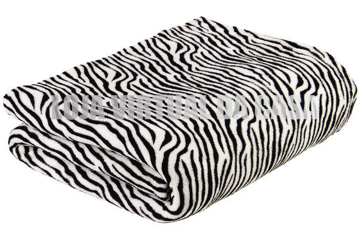 Manta em microfibra estampa Zebra - lepper | Cobertores e Mantas |