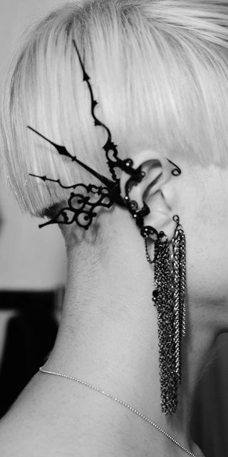 SteamPunk - Accessoires - Tick-tock ear cuff