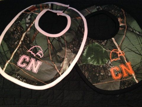 Great gift idea for the new Carson Newman Eagle fan in your family. Get camo or white bib while you can. Camo bibs are 55% cotton and 45%
