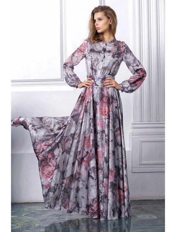 Серо-жемчужное платье