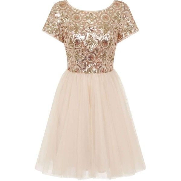 *Chi Chi London Petite Gold Sequin Party Dress (1.105 UYU) ❤ liked on Polyvore featuring dresses, gold, petite, gold cocktail dress, petite cocktail dress, sequined dresses, yellow gold dress and chi chi dresses