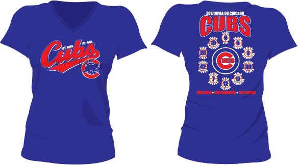 Chicago Cubs Ladies Roster T 6U (2017)
