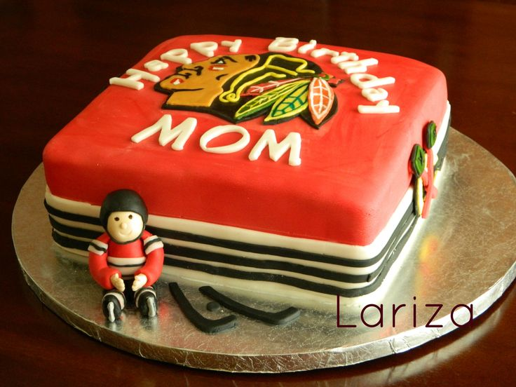 Chicago+Blackhawks+cake