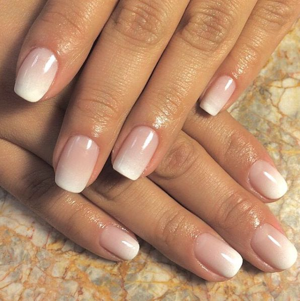 Wedding nail idea - for bride -subtle french gradation {Courtesy of Tom Boy Swan}