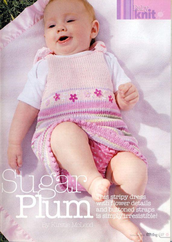 PINAFORE DRESS Knitting Pattern for Baby Girls & Toddlers at PatternaliaVintage