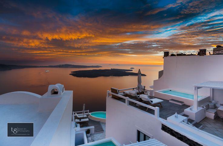 sunset over AQUA